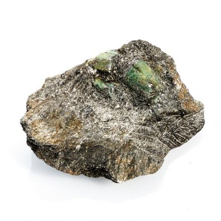 Кристаллы в породе берилл  (Урал) M 96х75х28 мм