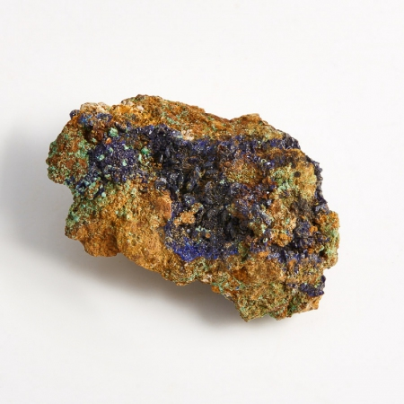 Образец азурит с малахитом  (Башкирия) XS 37х24х15 мм