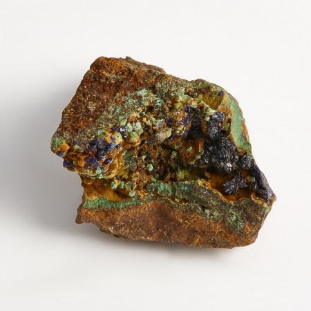 Образец азурит с малахитом  (Башкирия) XXS 26х24х19 мм