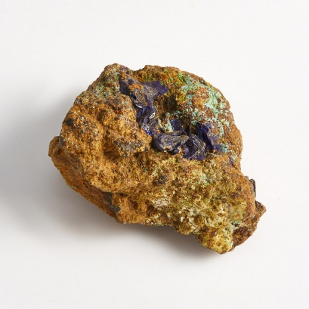 Образец азурит с малахитом  (Башкирия) XS 34х26х19 мм