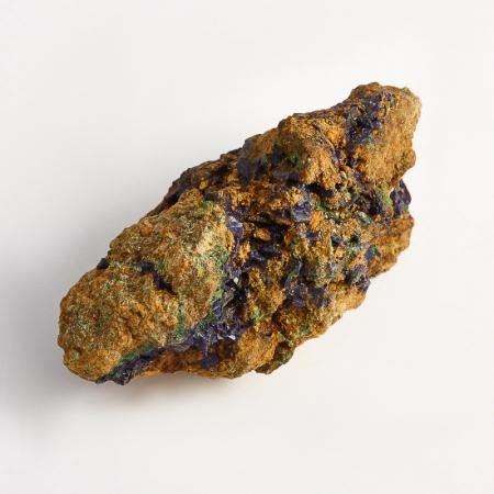 Образец азурит с малахитом  (Башкирия) XXS 46х23х22 ммАзурит<br>Образец азурит с малахитом  (Башкирия) XXS 46х23х22 мм<br><br>kit: None