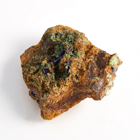 Образец азурит с малахитом  (Башкирия) XS 49х45х25 мм