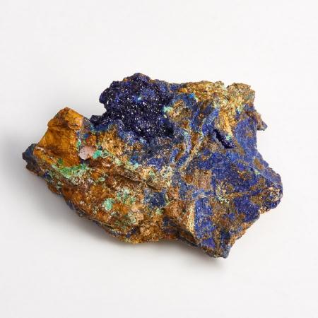 Образец азурит с малахитом  (Башкирия) S 47х33х11 мм
