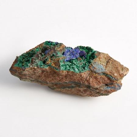 Образец азурит с малахитом  (Башкирия) S 57х24х22 мм