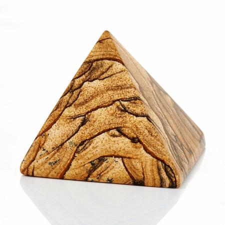 Пирамида яшма рисунчатая  5 см
