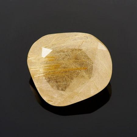 Огранка рутиловый кварц  17,5*19,5 мм