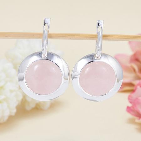 Серьги розовый кварц  (серебро 925 пр.)Розовый кварц<br>Серьги розовый кварц  (серебро 925 пр.)<br><br>kit: None