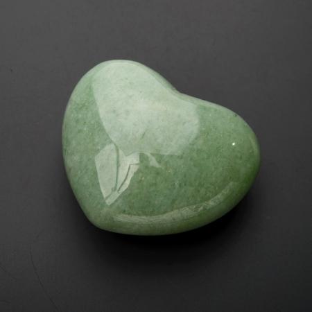 Сердечко авантюрин зеленый  4 см
