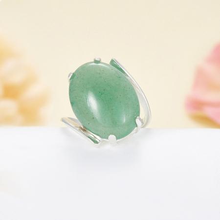 Кольцо авантюрин зеленый  (серебро 925 пр.) размер 19,5Авантюрин<br>Кольцо авантюрин зеленый  (серебро 925 пр.) размер 19,5<br><br>kit: None