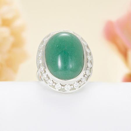 Кольцо авантюрин зеленый  (серебро 925 пр.)  размер 20,5Авантюрин<br>Кольцо авантюрин зеленый  (серебро 925 пр.)  размер 20,5<br><br>kit: None