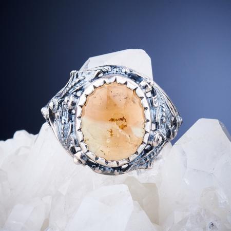 Кольцо турмалин  (серебро 925 пр.)  размер 18,5