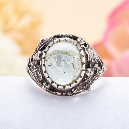 Кольцо турмалин зеленый  (серебро 925 пр.)  размер 18,5 от Mineralmarket