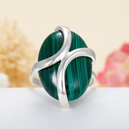 Кольцо малахит  (серебро 925 пр.)  размер 20,5