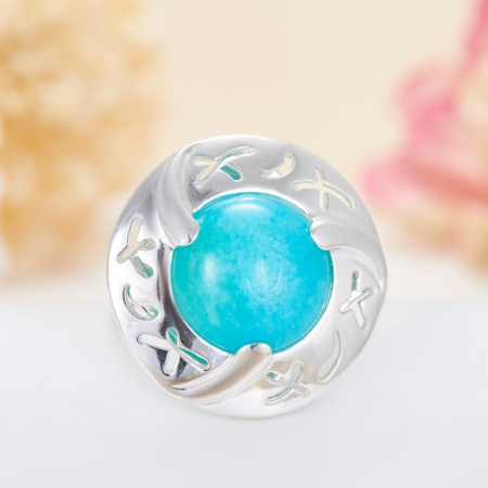 Кольцо амазонит  (серебро 925 пр.)  размер 18Амазонит<br>Кольцо амазонит  (серебро 925 пр.)  размер 18<br><br>kit: None