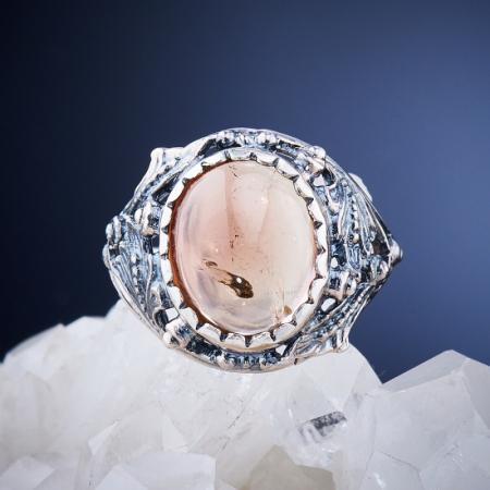 Кольцо турмалин  (серебро 925 пр.)  размер 17