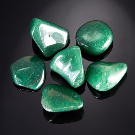 Авантюрин зеленый тёмный  (1,5-2 см) 1 шт