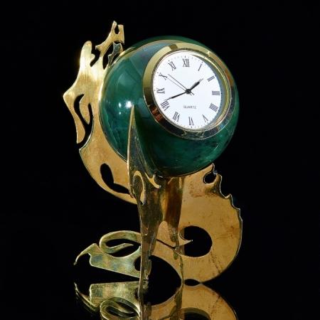 Часы-шар нефрит (d=8 см)