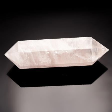 Кристалл (двухголовик) розовый кварц  M 23х24х90 мм