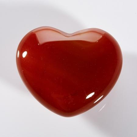 Сердечко сердолик  4 см