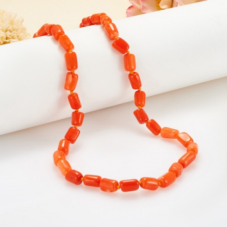Бусы коралл оранжевый  47 см