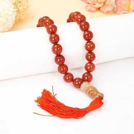 Четки 33 бусины сердолик  12 мм