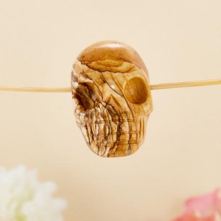 Подвеска-череп яшма рисунчатая  3х3х2 см