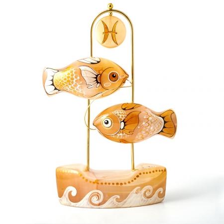 Статуэтка селенит Рыбы  21 см