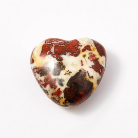 Сердечко яшма брекчиевая  2,5 см