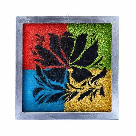 Картина из натуральных камней Магический цветок 30х31 см