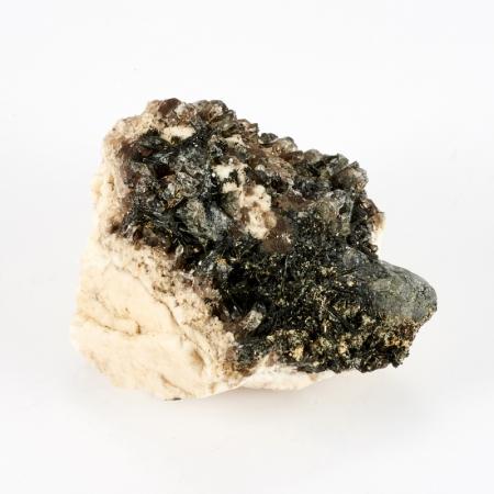 Образец турмалин черный, ортоклаз, кварц  S 32х48х53 ммТурмалин<br>Образец турмалин черный, ортоклаз, кварц  S 32х48х53 мм<br><br>kit: None