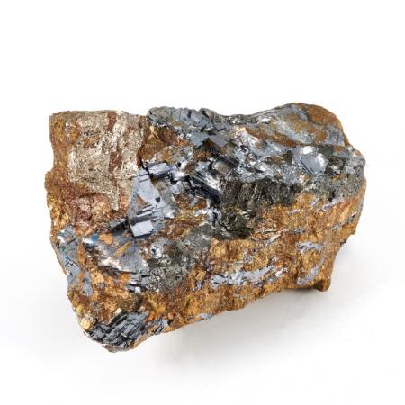 Образец галенит, пирротин, кальцит  S 45х55х70 мм
