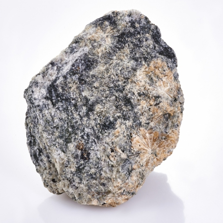 Образец титанит (сфен), пектолит, эгирин, микроклин  М 27х65х81 мм