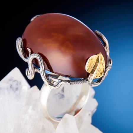 Кольцо сердолик  (серебро 925 пр.)  размер 17,5Сердолик<br>Кольцо сердолик  (серебро 925 пр.)  размер 17,5<br><br>kit: None