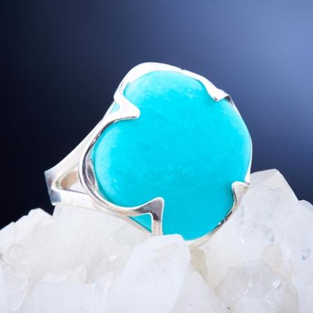 Кольцо амазонит  (серебро 925 пр.)  размер 20Амазонит<br>Кольцо амазонит  (серебро 925 пр.)  размер 20<br><br>kit: None