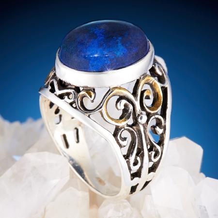 Кольцо опал  (серебро 925 пр.)  размер 18