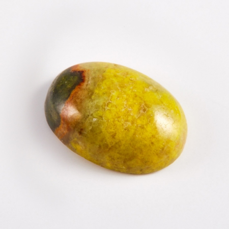 Кабошон яшма горчичная  10*14 мм