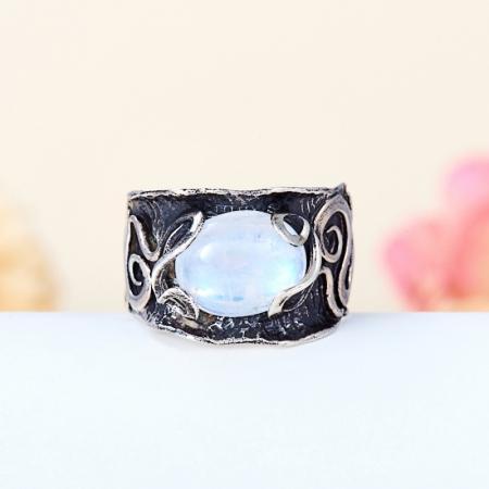 Кольцо лунный камень  (серебро 925 пр.,чернение)  размер 18Лунный камень<br>Кольцо лунный камень  (серебро 925 пр.,чернение)  размер 18<br><br>kit: None