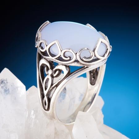 Кольцо агат голубой (сапфирин)  (серебро 925 пр.)  размер 18,5Агат<br>Кольцо агат голубой (сапфирин)  (серебро 925 пр.)  размер 18,5<br><br>kit: None