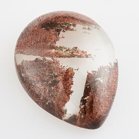 Кабошон кварц с хлоритом  15*20 мм