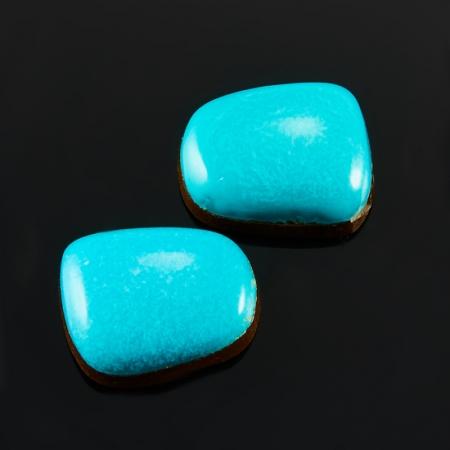 Кабошон бирюза  дублет (2 шт) 7*8,5 мм