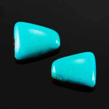 Кабошон бирюза  дублет (2 шт) 8*9 мм