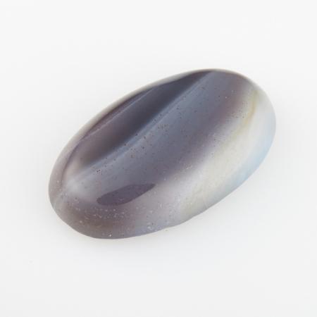 Кабошон агат серый  12*20 мм
