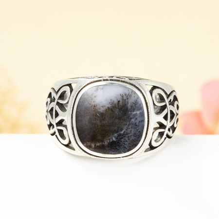 Кольцо агат моховой  (серебро 925 пр.)  размер 22 от Mineralmarket
