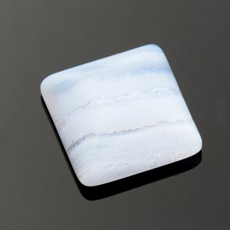 Кабошон агат голубой  10*10 мм