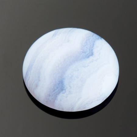 Кабошон агат голубой  15 мм
