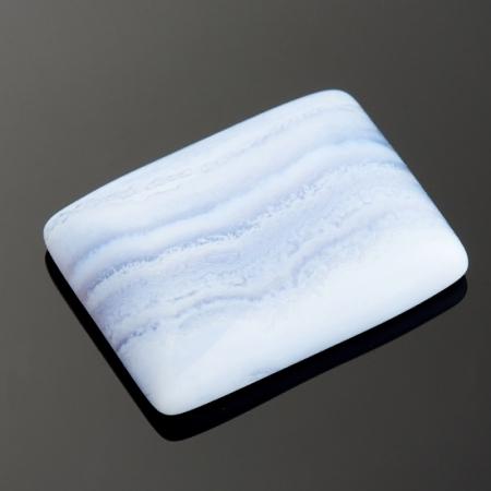Кабошон агат голубой  15*20 мм
