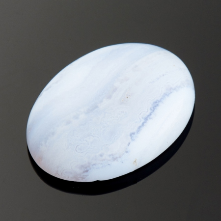 Кабошон агат голубой  13*18 мм