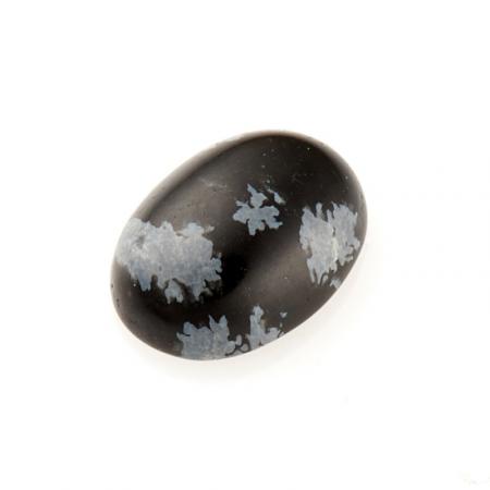 Кабошон обсидиан снежный  6*8 мм